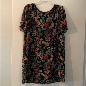 Floral Shift Dress Size M